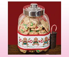 Holly Jolly Gingerbread Jar