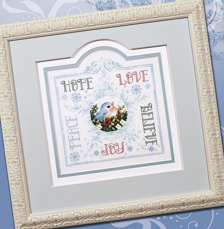 Photo of framed cross stitch Words of Praise THUMBNAIL