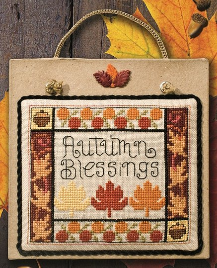 "Buttoned Autumn Leaves 6""x6"" Plaque"