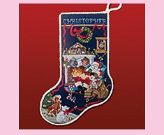 Sleepy Santa Stocking