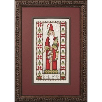 Photo of framed cross stitch Olde Father Christmas