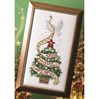 Custom Frame - Christmas Tree and Dove