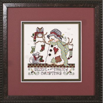Photo of framed cross stitch Magic of Christmas THUMBNAIL
