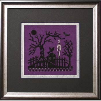 Photo of framed cross stitch Bone Yard THUMBNAIL