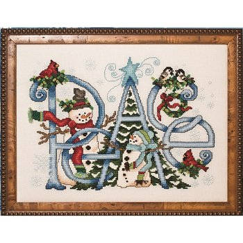Custom Frame - Peace Snowmen w/ Birds THUMBNAIL