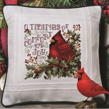 Prefinished Pillow - Christmas - 18ct Anne Cloth MAIN
