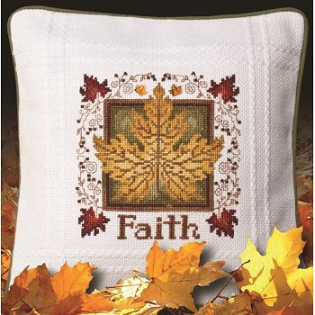 Prefinished Pillow - Autumn - 18ct Anne Cloth