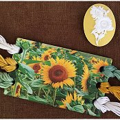 Vintage Postcard Series - Sunflowers Threadkeep