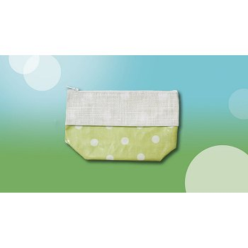 Waxed Green Polka Dot Bag, Small