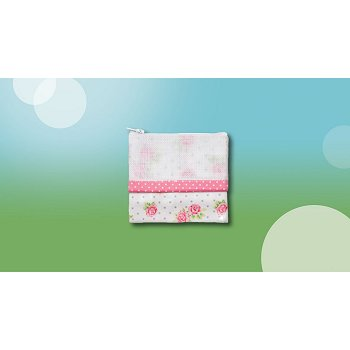 Waxed Pink Roses Bag, Wallet