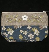 Navy Floral Bag, Small