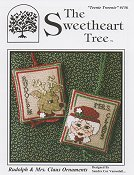 The Sweetheart Tree - Teenie Tweenie 156 Rudolph & Mrs. Clause Ornaments