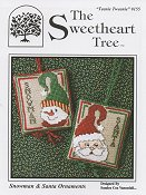 The Sweetheart Tree - Teenie Tweenie 155 Snowman & Santa Ornaments