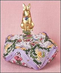 Just Nan Cross Stitch Just Nan Tiny Bunny Biscornu
