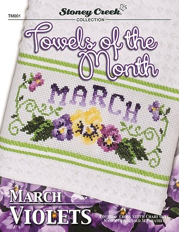 Towels of the Month - March Violets MAIN