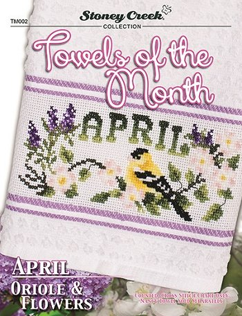 Towels of the Month - April Oriole & Flowers_THUMBNAIL