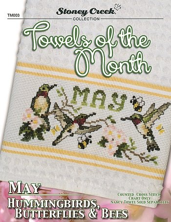 Towels of the Month - May Hummingbirds, Butterflies & Bees THUMBNAIL