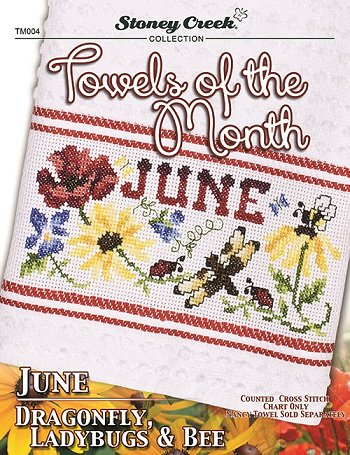 Towels of the Month - June Dragonfly, Ladybugs & Bee THUMBNAIL