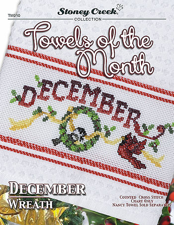 Towels of the Month - December Wreath THUMBNAIL
