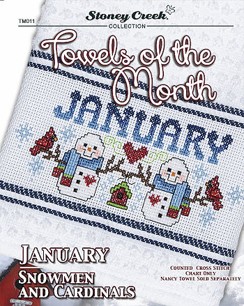 Towels of the Month - January Snowmen & Cardinals MAIN