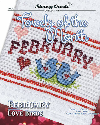 Towels of the Month - February Love Birds