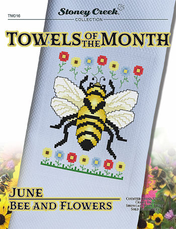 Towels of the Month - June Bee and Flowers MAIN
