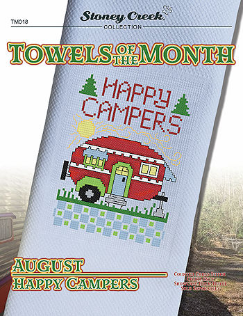 Towels of the Month - August Happy Campers MAIN