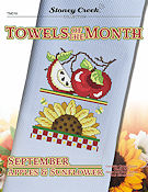 Towels of the Month - September Apples & Sunflower THUMBNAIL
