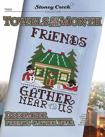 Towels of the Month - December Friends Gather Near MAIN