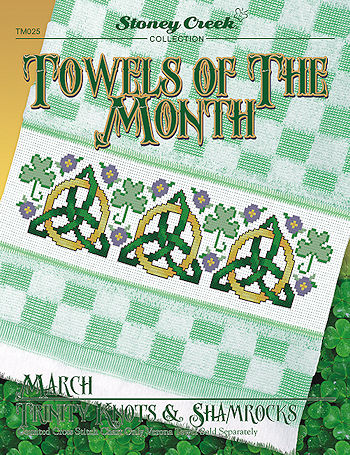 Towels of the Month - March Trinity Knots & Shamrocks MAIN