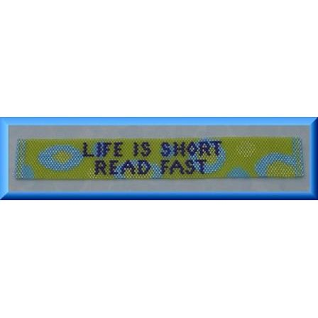 Threaded Needle Designs - Life is Short Bookmark
