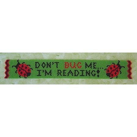 Threaded Needle Designs - Ladybug Bookmark