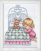 Tobin Baby Bedtime Prayer (Girl) Cross Stitch Kit THUMBNAIL