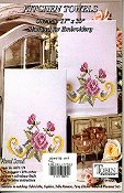 Tobin Home Crafts - Floral Scroll Kitchen Towels THUMBNAIL