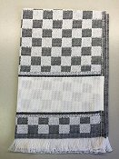 Verona Towel -Black/White