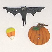 Button Pack - Trick or Treat Halloween Candy Box