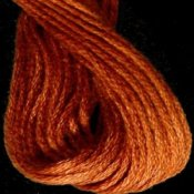 Valdani Hand Overdyed Thread Faded Rust Dark THUMBNAIL