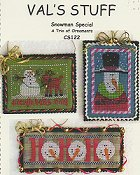Val's Stuff - Snowman Special, A Trio of Ornaments