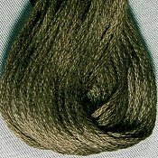Valdani Hand Overdyed Thread Rich Olive Green MAIN