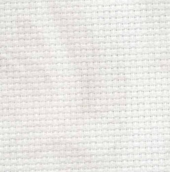 "Aida 14ct Vintage Smokey White - Fat Half (21"" x 36"" Cut) MAIN"