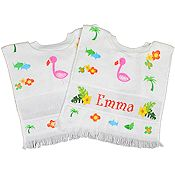 Baby Bib - Flamingo Exotic Bird