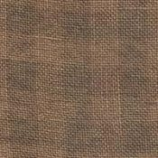 Weeks Dye Works 28ct Gingham Linen 1233 Cocoa/Natural