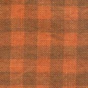 Weeks Dye Works 28ct Gingham Linen 2228 Pumpkin/Natural