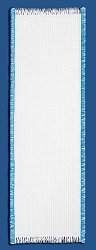Bookmark - 14ct White w/ Electric Blue Trim THUMBNAIL