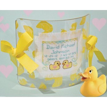 Small Acrylic Yellow Ducky Curved Frame