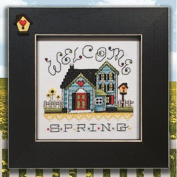 Button Frame - Birdhouse 5x5 Black