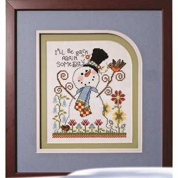 Photo of framed cross stitch Back Again Someday THUMBNAIL