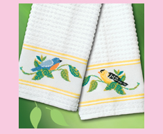 Bluebird & Goldfinch Towels