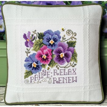 Prefinished Pillow - Spring - 18ct Anne Cloth