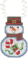 Holiday Wizzers Snowman with Candy Cane THUMBNAIL